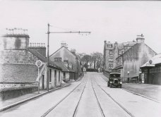 Looking north to Larbert Cross